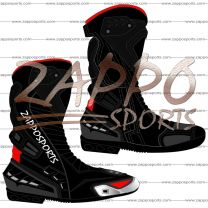 Zappo Black Motorcycle Leather Race Boot